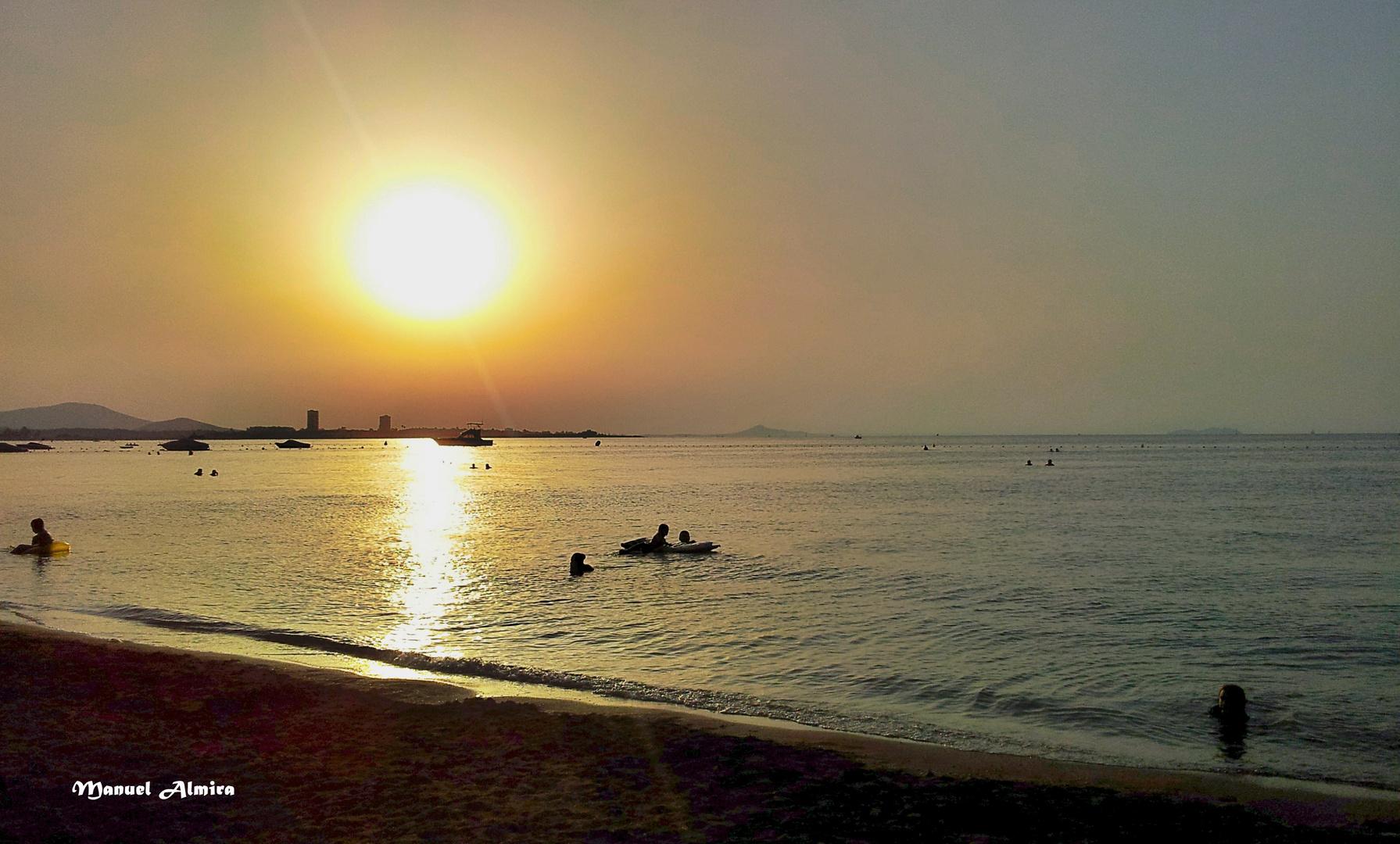 Atardecer en La Manga del Mar Menor
