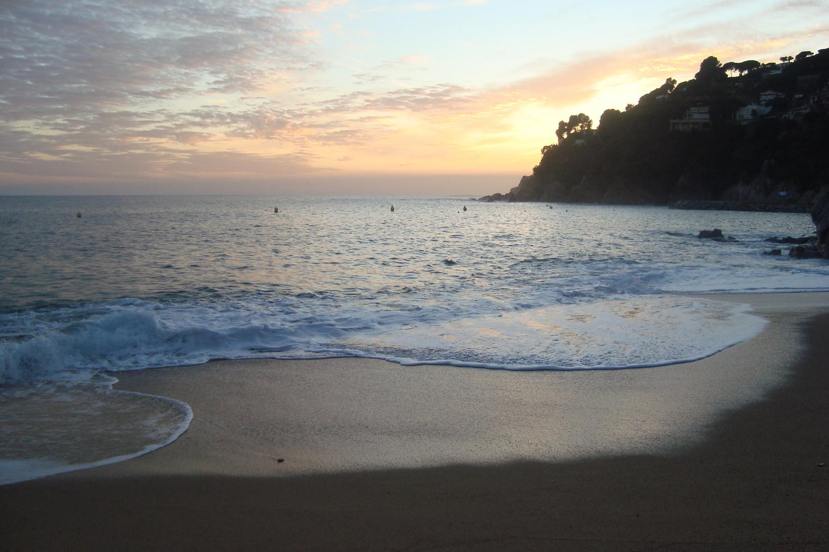 Atardecer en la plaia