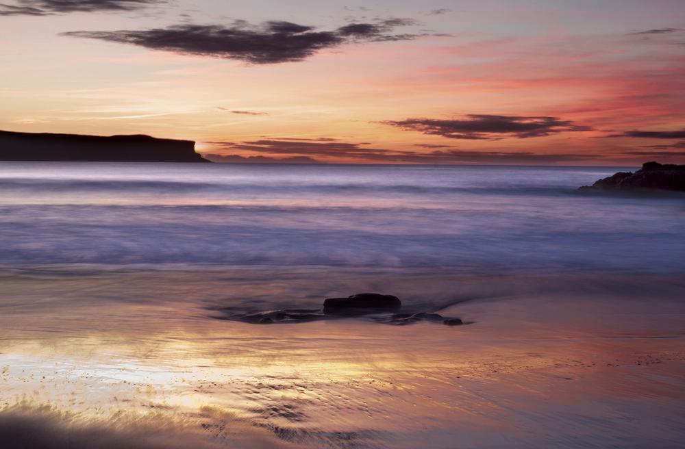 Atardecer en la playa de Los Locos (Suances-Cantabria)