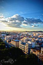 Atardecer en lo alto de Malaga
