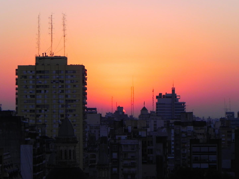 Atardecer en Rosario.