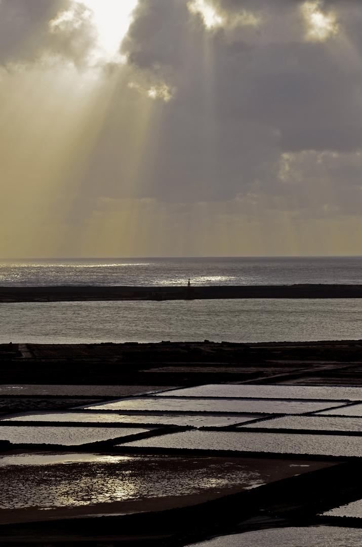 Atardecer en Salinas de Janubio -Lanzarote-