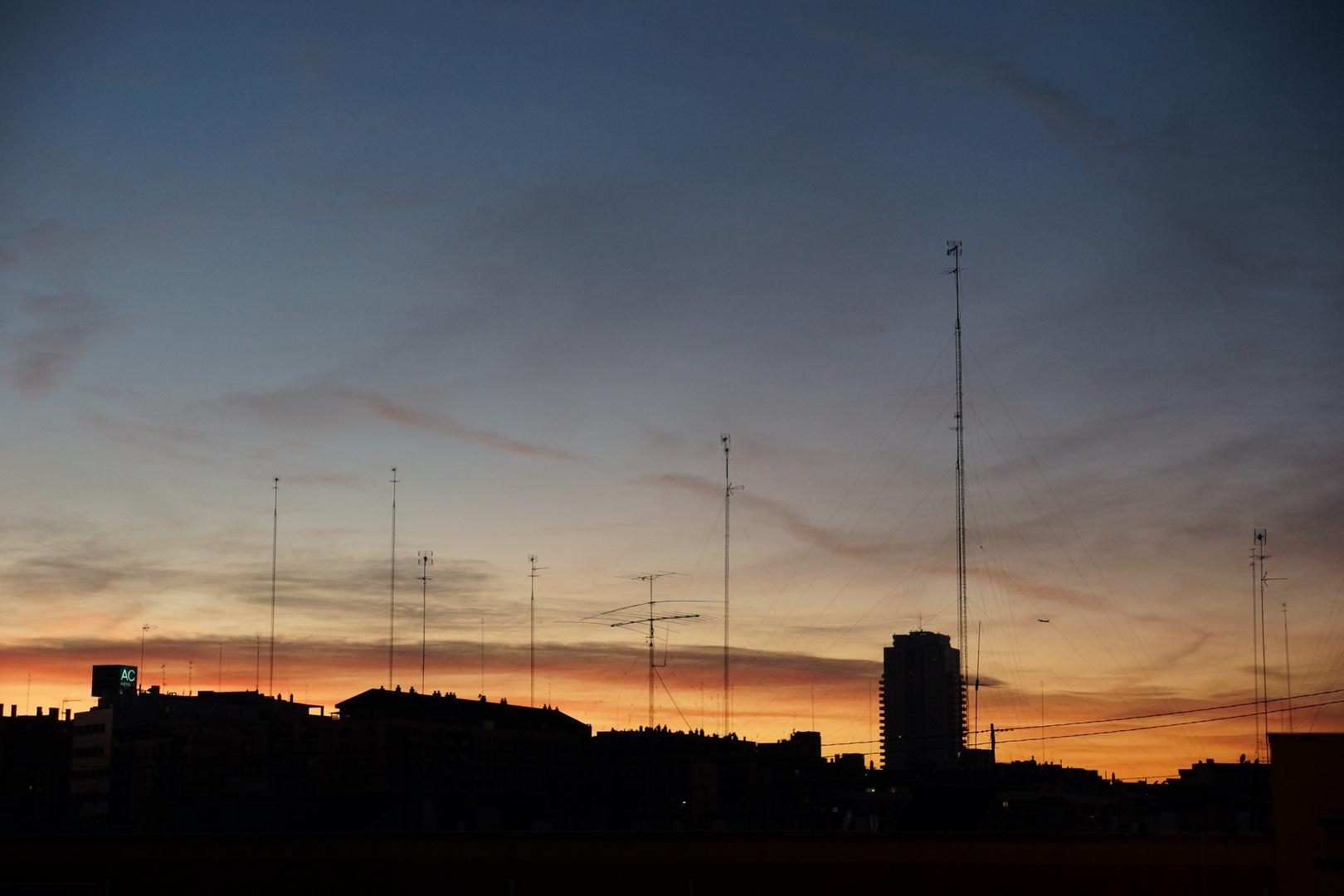 Atardecer en Valencia 22/12/2011 ( 2)