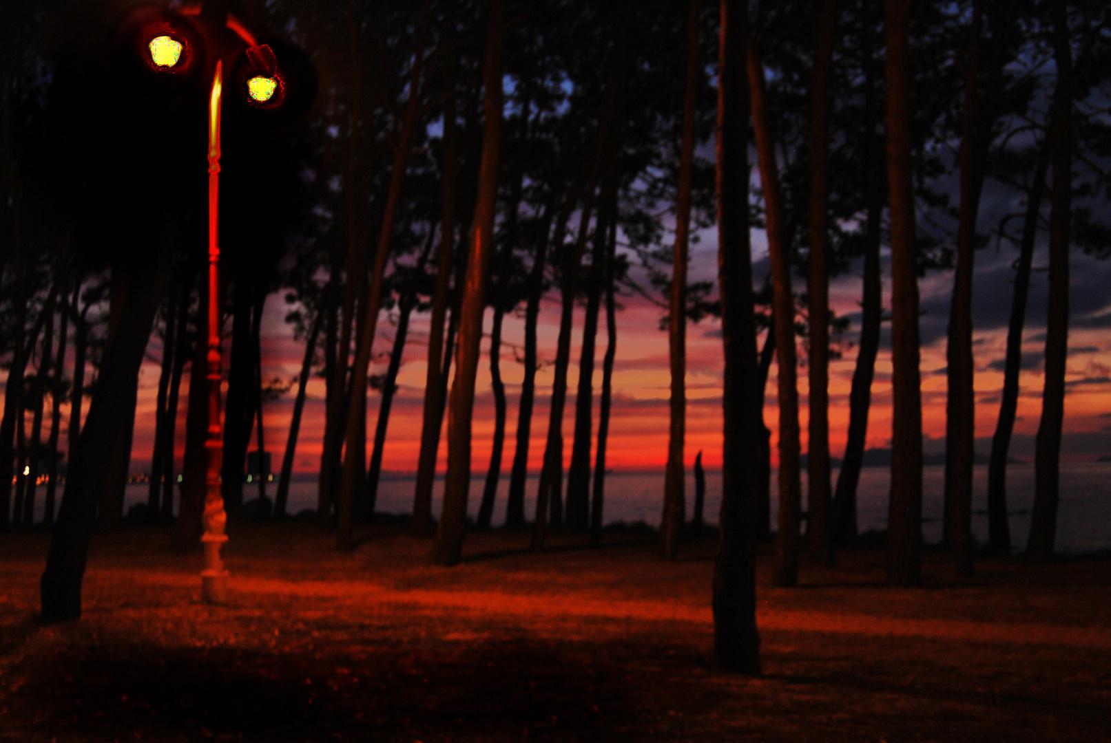 Atardecer , playa de samil VIGO