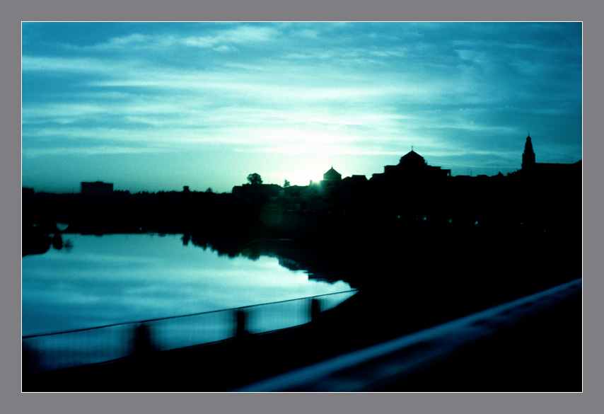 Atardecer por la ribera, Córdoba