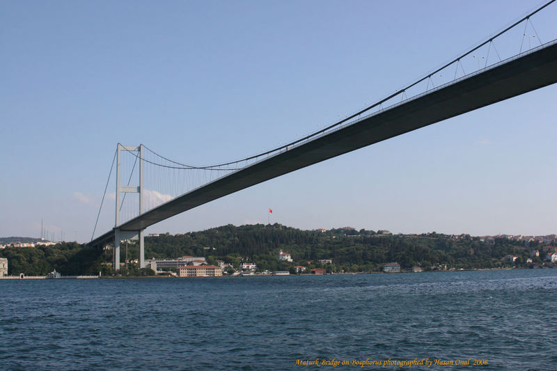 Ataturk Bridge on Bosphore
