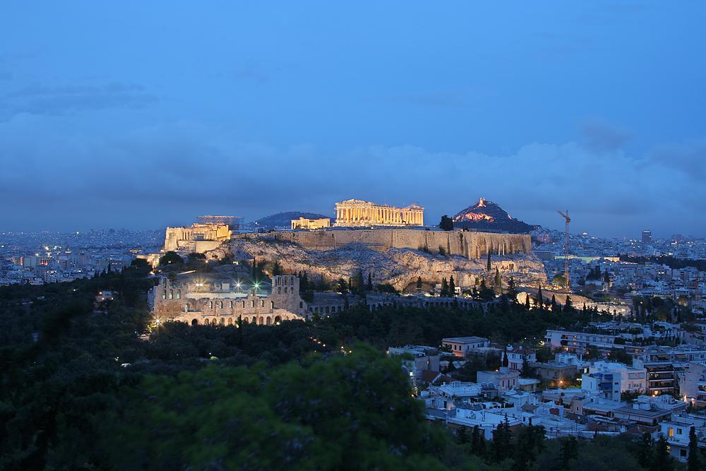 Athen Akropolis Lykavittos Odeion des Herodes Atticus