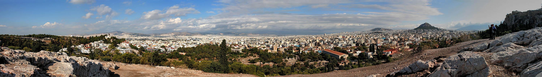 Athen sehr weite Stadtansicht Nord