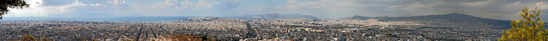 Athen sehr weite Stadtansicht Süd