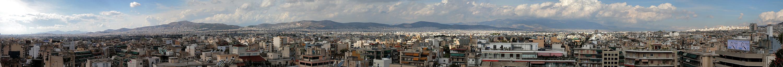 Athen weite Stadtansicht