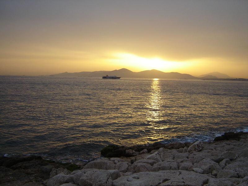 Athens Sonnenuntergang