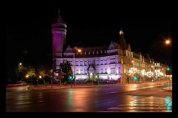 Atmosphäre in Luxemburg bei Nacht