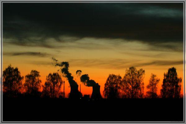 Atomkraft im Einklang mit der Natur oder Sonnen- Untergangs-Romantik