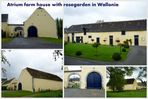 (Atrium-)Bauernhaus mit Roseninnenhof, Wallonien/ Belgien