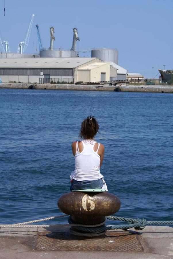 Attente sur le port de Sète