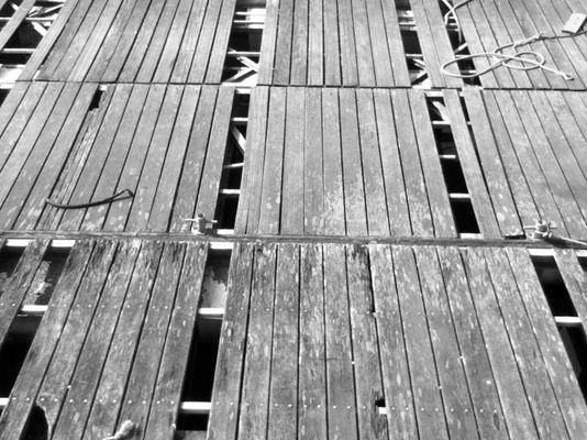 Au bord des quais.