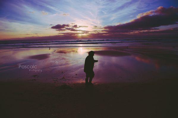Au bord du sable..