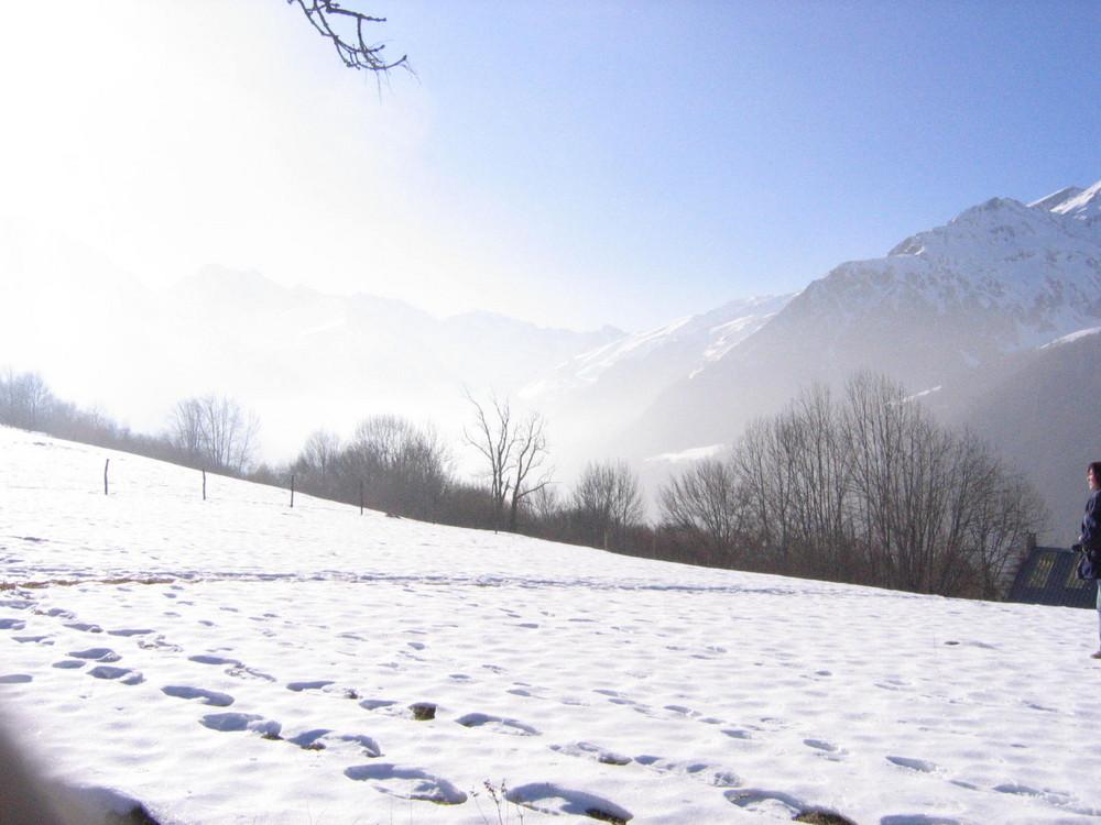 au dessus de campan dans les pyrenees