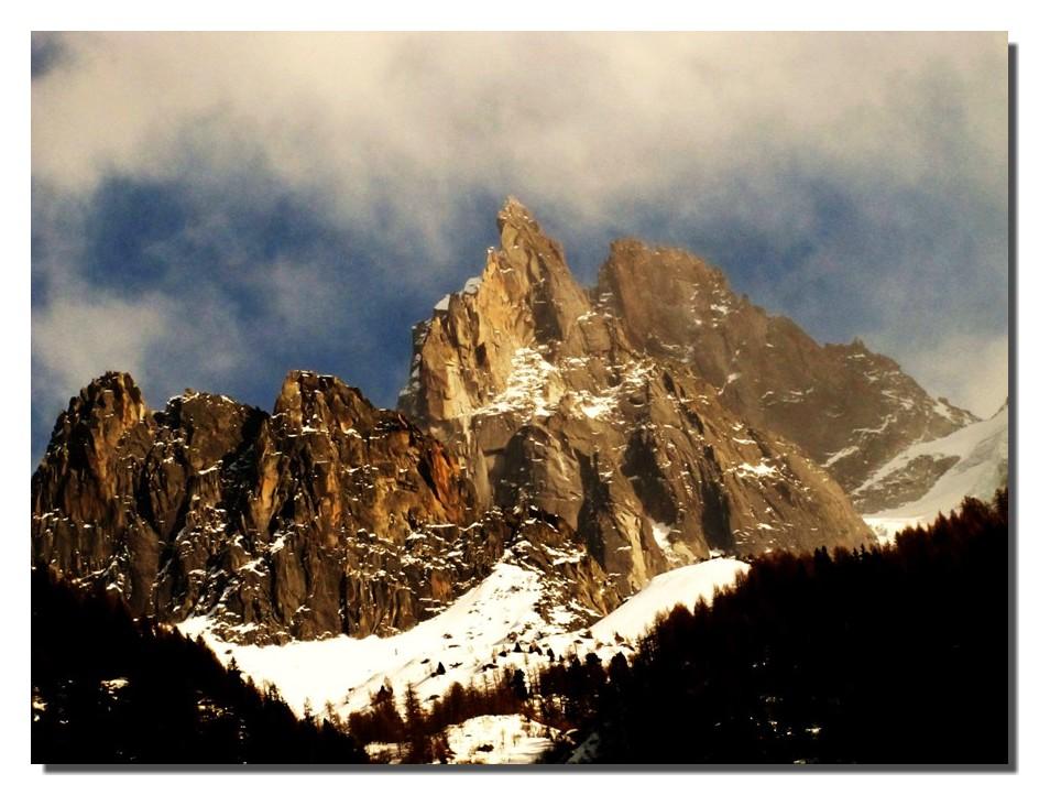 au-dessus de Chamonix