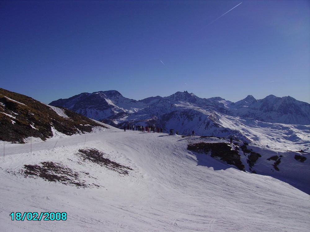 Au dessus du lac du mont Cenis