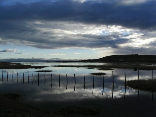au petit matin lac argentina