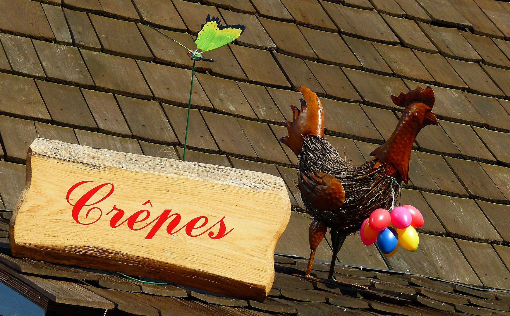 Au weia, der Hahn legt bunte Eier