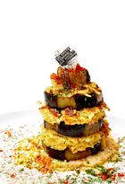 Auberginen Turm - im Ox Kochbuch Nr.3 zu bewundern -