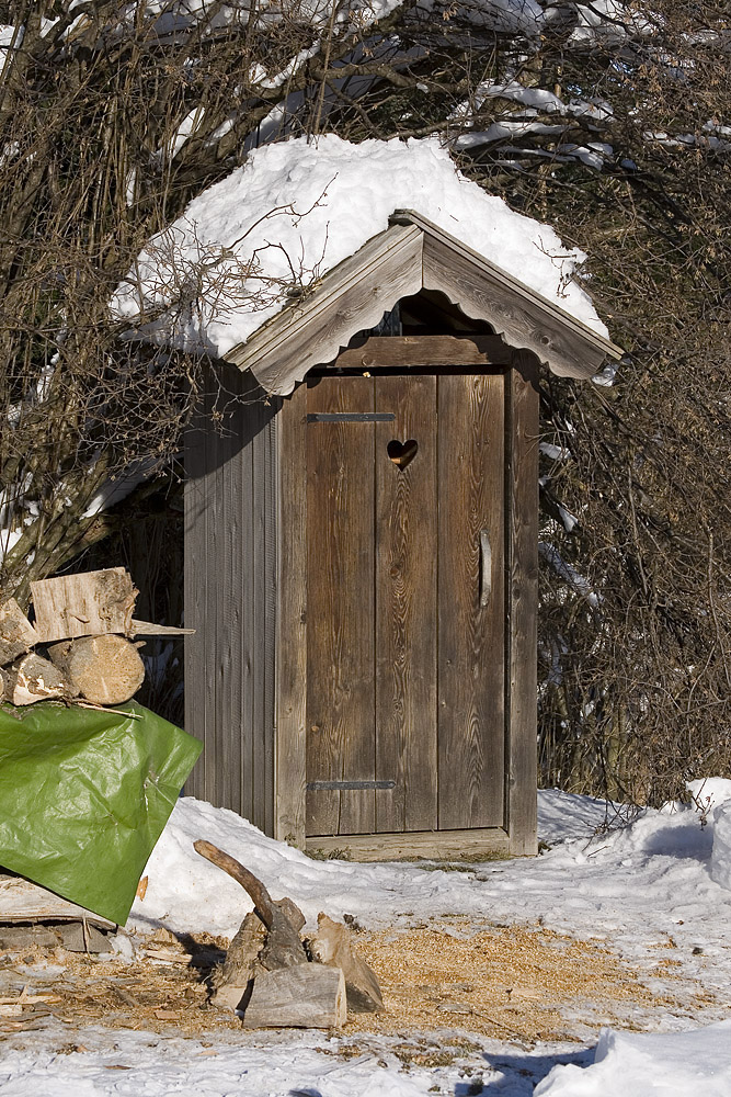 Auch auf der Gupfalm gibts natürlich ein WC