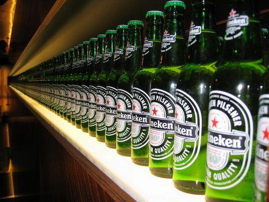 auch Biere können in Reih´ und Glied stehen!