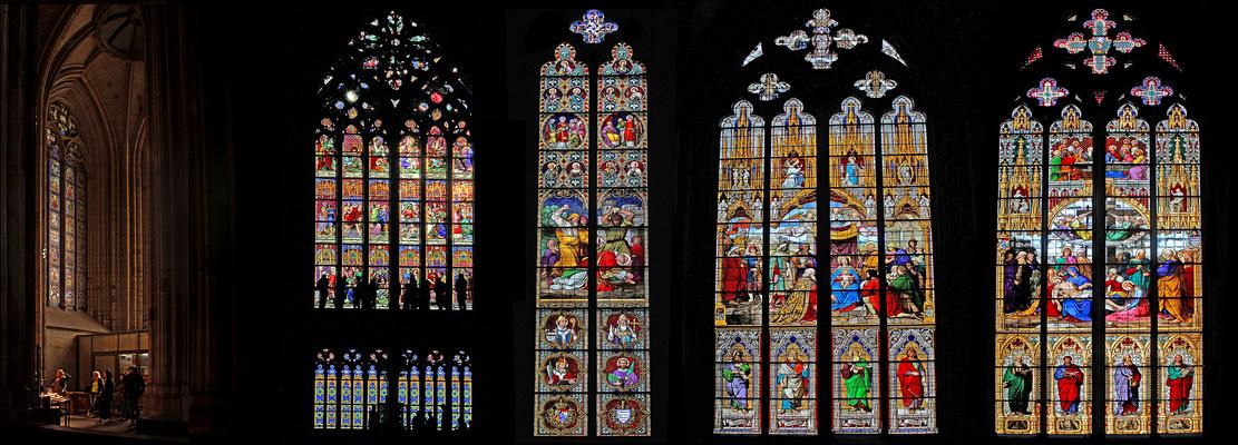 Auch die Fenster des Kölner Doms ...