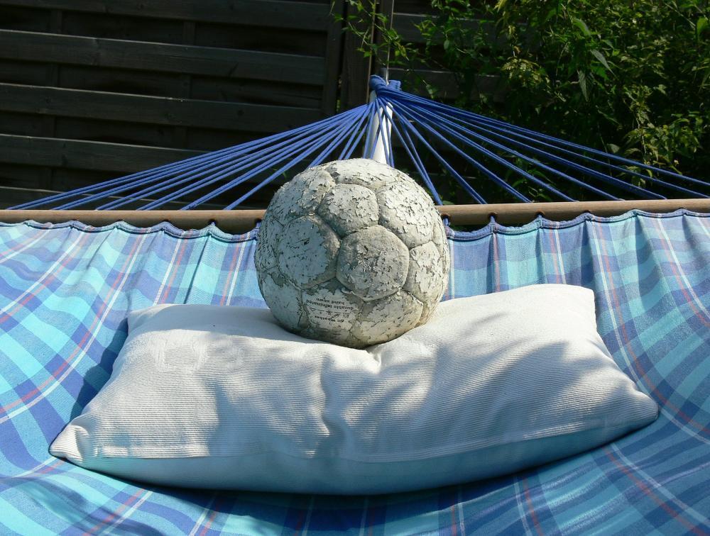 Auch ein Fussball braucht mal Pause...