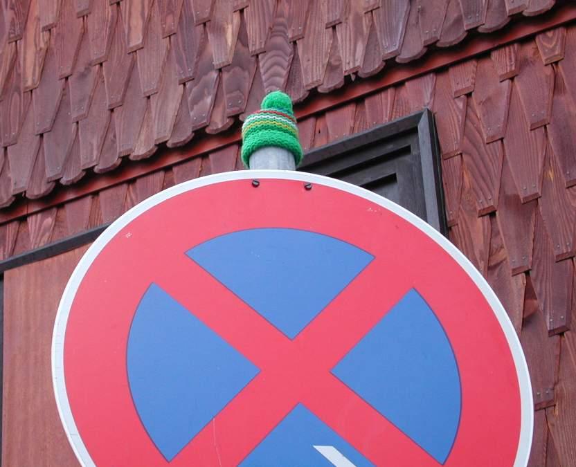Auch ein Verkehrszeichen ist nur ein Mensch....