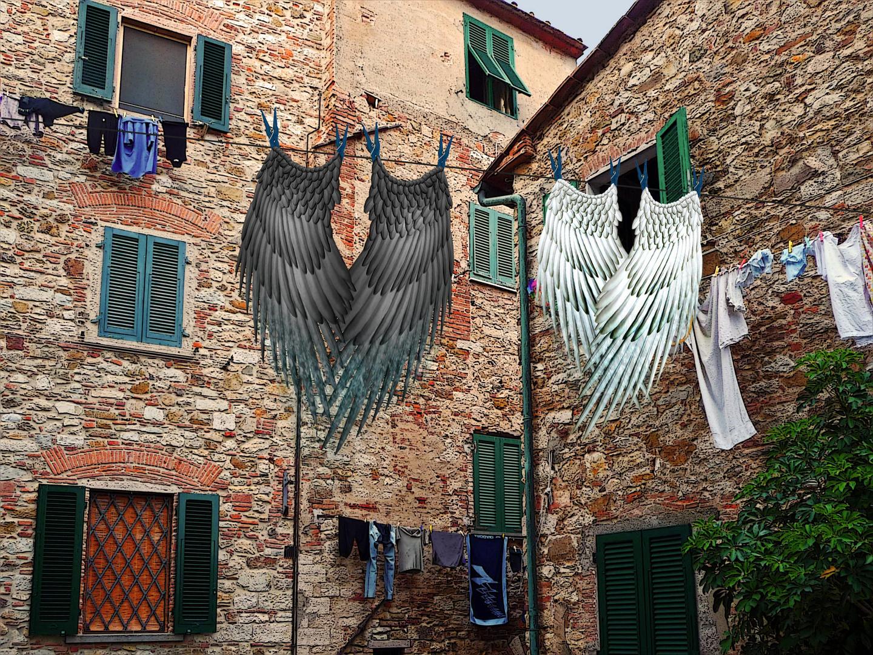 Auch Engel haben Waschtag...