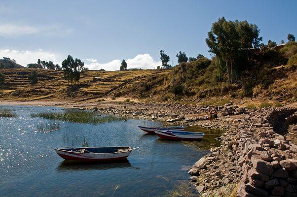 Auch grosse Seen haben ihre kleinen Buchten