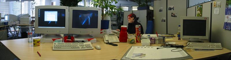 auch im Büro hat's Ecken....