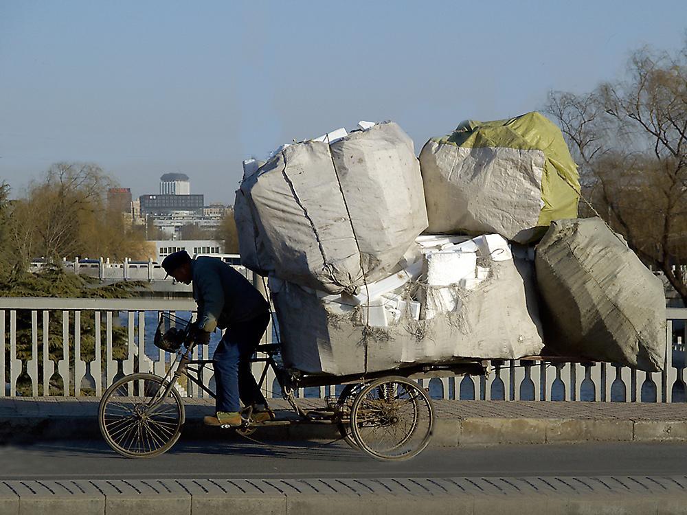 Auch im modernen China wird noch hart gearbeitet...