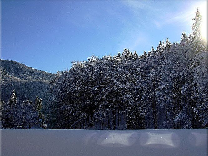 Auch in Bayern fiel der Schnee