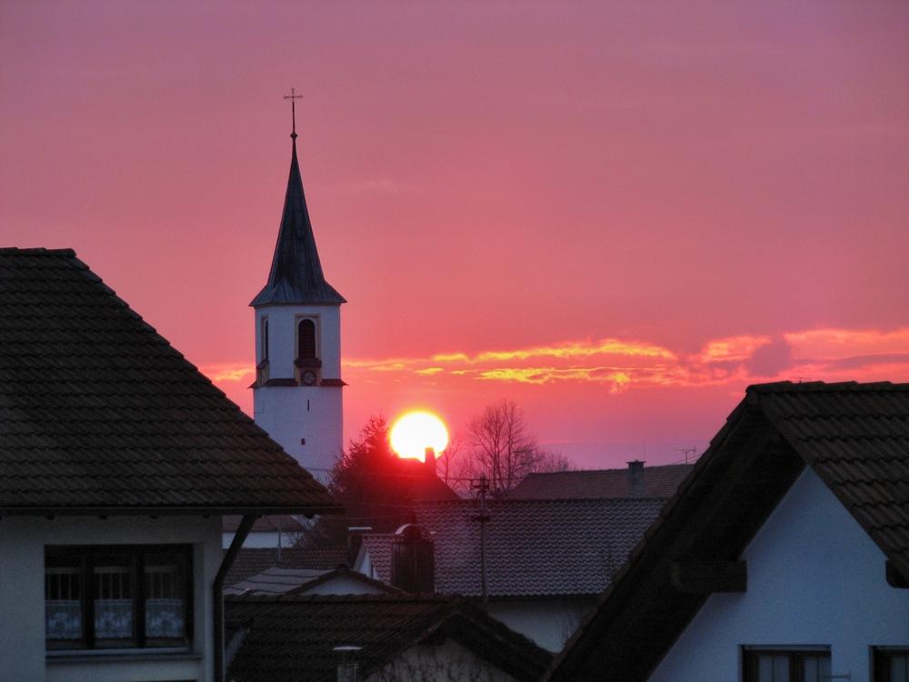 auch in Ziegelbach geht die Sonne unter