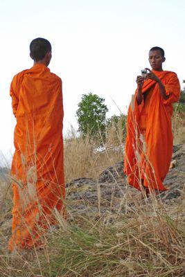 auch Mönche fotografieren digital...