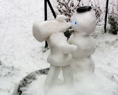 Auch Schneemänner sind eifrige Sternbeobachter
