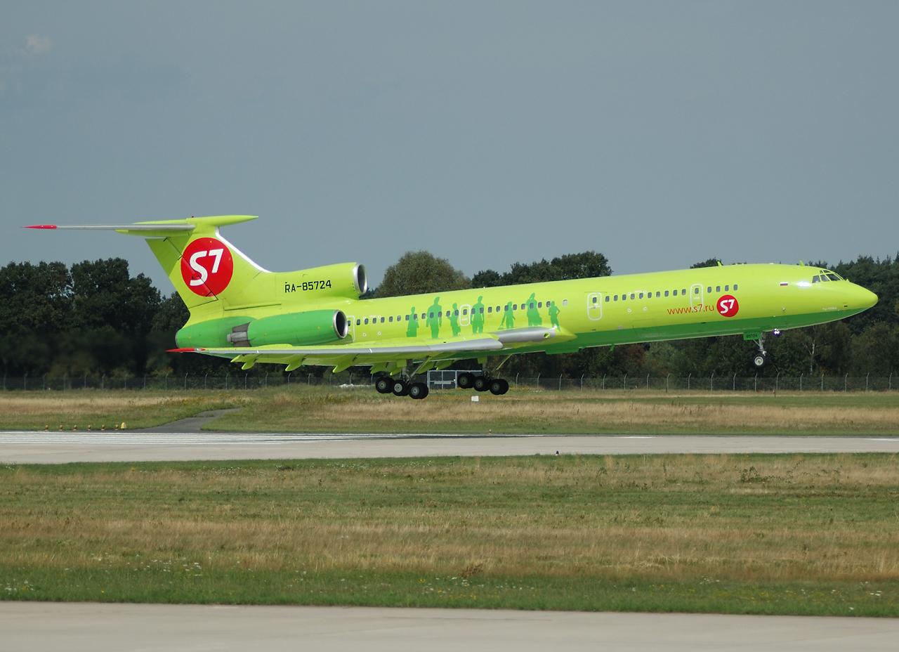 Auch vorbei: die wunderschöne Tupolev 154M der S7-Siberia Airlines