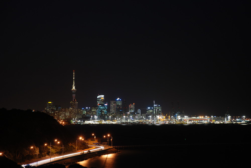 Auckland Harbour by Night