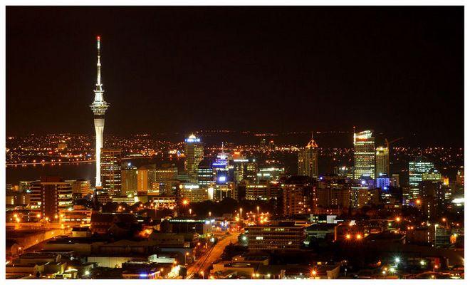 Auckland Skyline from Mt. Eden