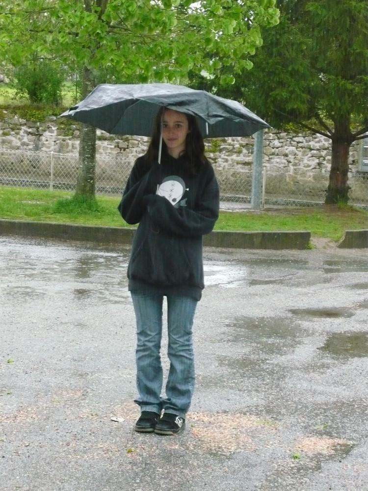 Audé sous la pluie