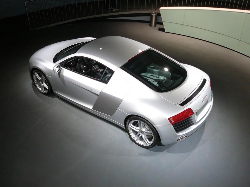 Audi R8 im rechten Licht