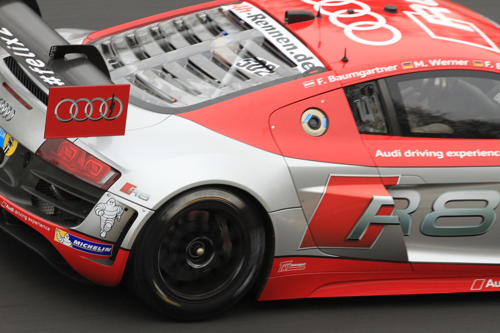 Audi R8 LMS -Testlauf für 24h Rennen