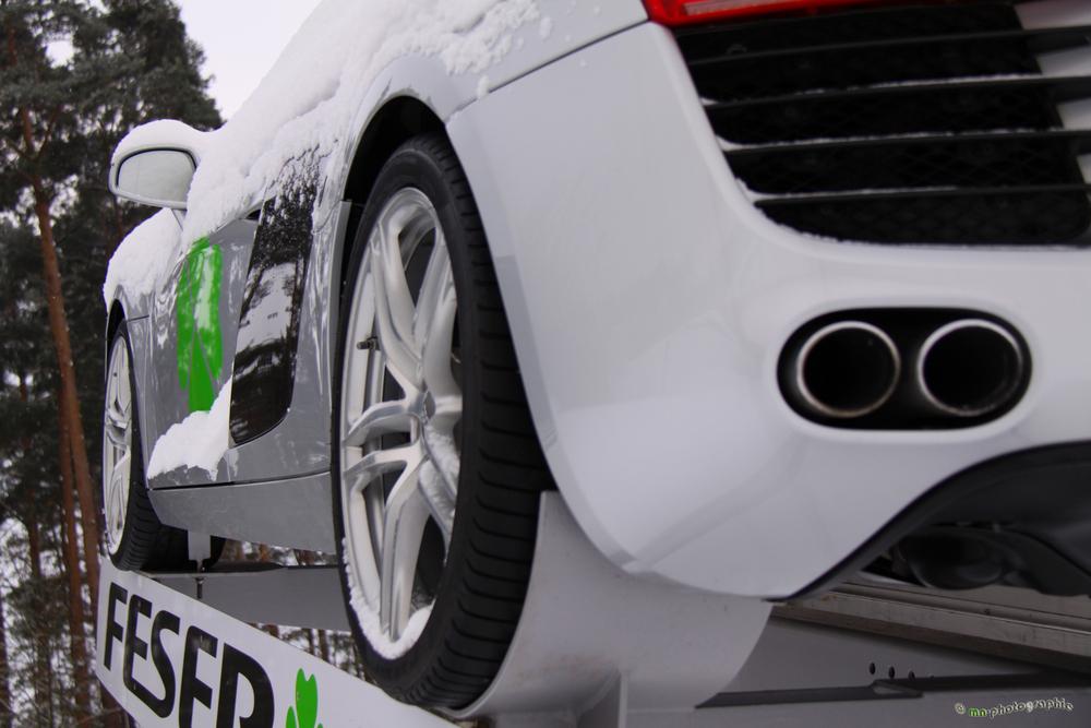 Audi R8 - volles Rohr