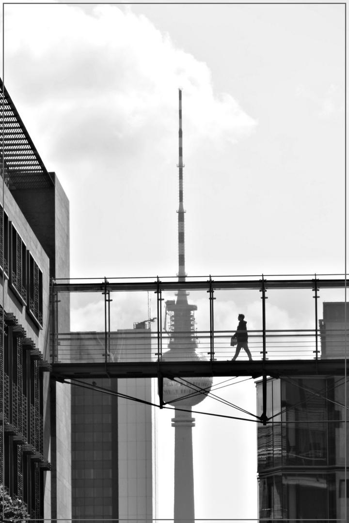 Auf Augenhöhe mit dem Fernsehturm