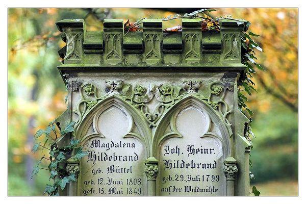 auf dem alten Friedhof in Weinheim