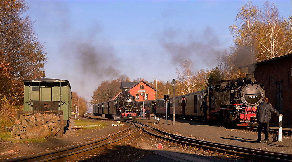Auf dem Bahnhof Bertsdorf